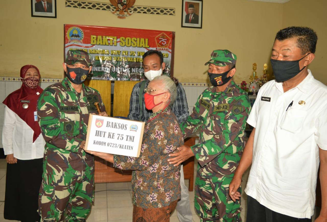 Sambut HUT TNI Dandim Klaten Kunjungi Panti Asuhan